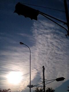 地震雲かも